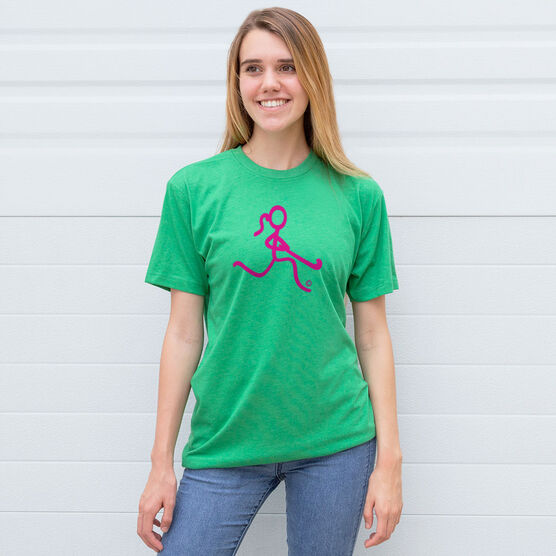 Field Hockey Tshirt Short Sleeve Neon Field Hockey Girl