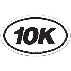 10K Oval Car Magnet