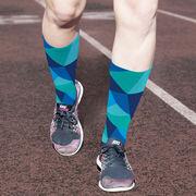 Printed Mid-Calf Socks - Prism