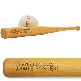 Happy Birthday Mini Engraved Baseball Bat