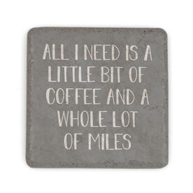 Running Stone Coaster - A Little Bit Of Coffee And A Whole Lot Of Miles
