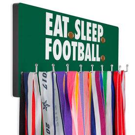 Football Hooked on Medals Hanger - Eat Sleep Football