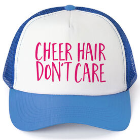 Cheerleading Trucker Hat - Cheer Hair Don't Care