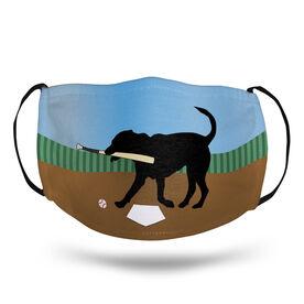 Baseball Face Mask - Buddy the Baseball Dog Field