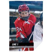 Hockey Premium Blanket - Custom Hockey Player Photo