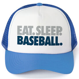 Baseball Trucker Hat - Eat. Sleep. Baseball.