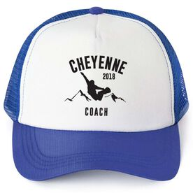Snowboarding Trucker Hat - Team Name Coach With Curved Text