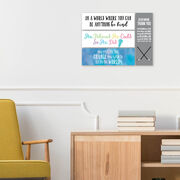 """Girls Lacrosse 12.5"""" X 4"""" Removable Wall Tile - She Believed She Could So She Did"""
