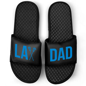 Guys Lacrosse Black Slide Sandals - Lax Dad