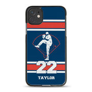 Baseball iPhone® Case - Pitcher and Number