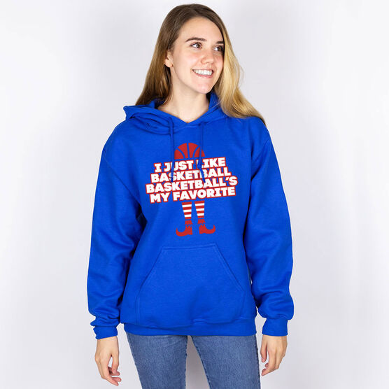 Basketball Hooded Sweatshirt - Basketball's My Favorite