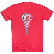 Girls Lacrosse T-Shirt Short Sleeve Lacrosse Stick Heart