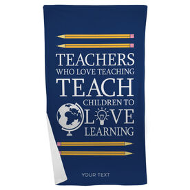 Personalized Beach Towel - Love Teaching