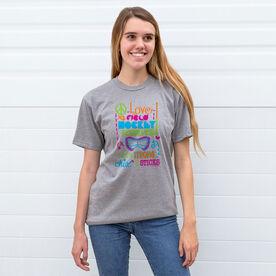 Field Hockey Tshirt Short Sleeve Chix With Sticks Field Hockey