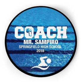 Swimming Circle Plaque - Coach With 3 Lines