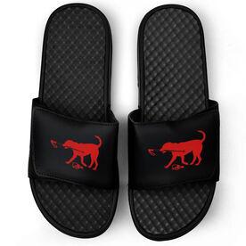 Skiing Black Slide Sandals - Ski Dog