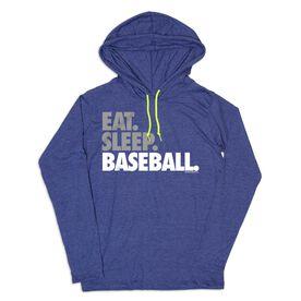 Women's Baseball Lightweight Hoodie - Eat Sleep Baseball