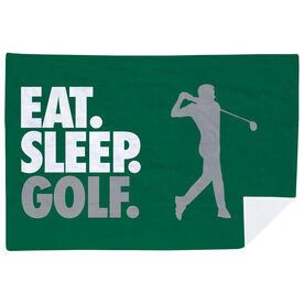 Golf Premium Blanket - Eat. Sleep. Golf. Horizontal