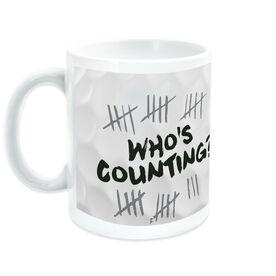 Golf Coffee Mug Whos Counting
