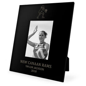 Volleyball Engraved Picture Frame - Girl Player