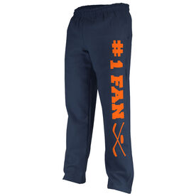 Hockey Fleece Sweatpants #1 Hockey Fan with Sticks