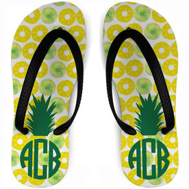 Field Hockey Flip Flops Pineapples & Field Hockey