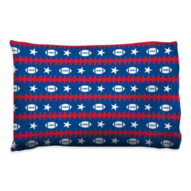 Football Pillowcase - Patriotic Pattern