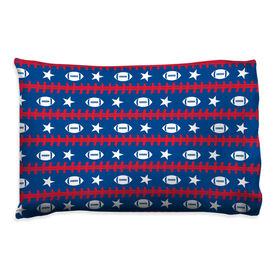 Football Pillowcase - Patriotic Pattern