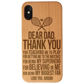 Tennis Engraved Wood IPhone® Case - Dear Dad