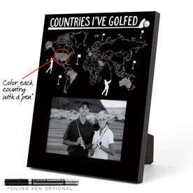 Golf Photo Frame - Countries I've Golfed Outline