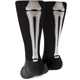 Printed Mid-Calf Socks - Skeleton