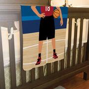 Basketball Baby Blanket - Basketball Player