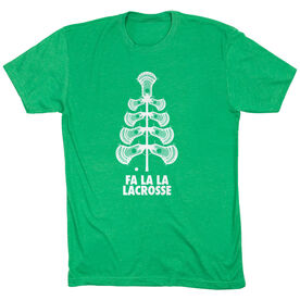 Guys Lacrosse Short Sleeve T-Shirt - Fa La La Tree