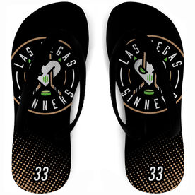 Flip Flops - Las Vegas Sinners with Number