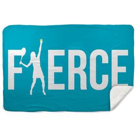 Tennis Sherpa Fleece Blanket Fierce Girl