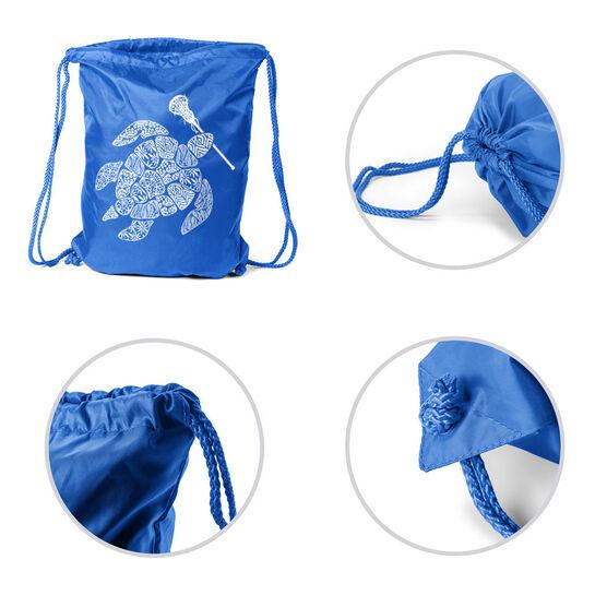 Girls Lacrosse Sport Pack Cinch Sack - Lax Turtle