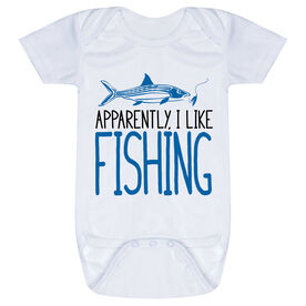 Fly Fishing Baby One-Piece - Apparently, I Like Fishing