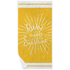 Running Premium Beach Towel - Run With Sunshine