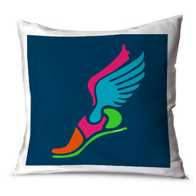 Track and Field Throw Pillow Track Winged Foot