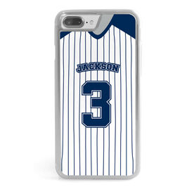 Baseball iPhone® Case - Jersey Number Pin Stripes