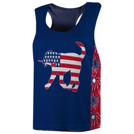 Field Hockey Racerback Pinnie - Patriotic Fetch the Field Hockey Dog