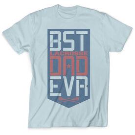 Girls Lacrosse Vintage T-Shirt - Best Dad Ever Shield
