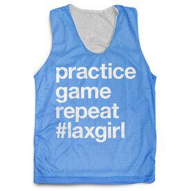 Girls Lacrosse Racerback Pinnie - Practice Game Repeat