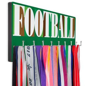 Football Hooked on Medals Hanger - Football Mosaic