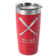 Softball 20 oz. Double Insulated Tumbler - Crossed Bats Icon