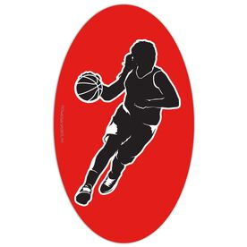 Basketball Oval Car Magnet Basketball Girl