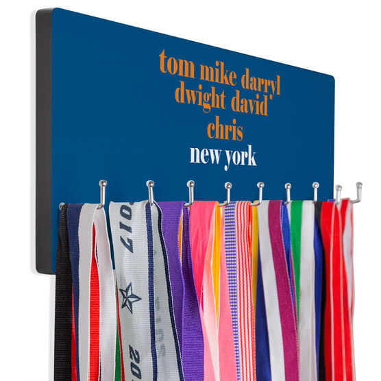 Baseball Hooked on Medals Hanger - Personalized Queens Mantra
