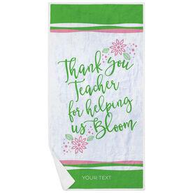 Personalized Premium Beach Towel - Teacher Bloom