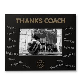 Volleyball Engraved Frame - Thanks Coach