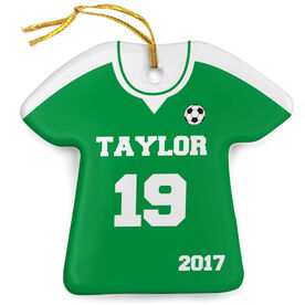 Soccer Porcelain Ornament Personalized Solid Jersey